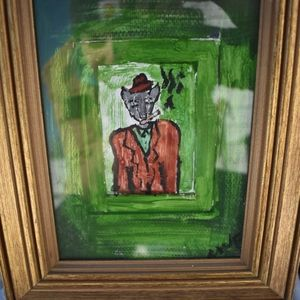 Original Folk Art Mouse Portrait